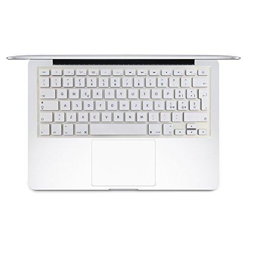 i-Buy Copritastiera in silicone, per MacBook Air e Pro da 13/15 pollici, layout spagnolo dei tasti bianco Macbook 13&15(Italiano)