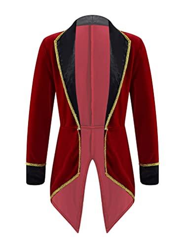 NC Cosplay, Disfraz de Maestro de Ceremonias de Circo para nios, Trajes de Juego de simulacin de Halloween, Chaqueta de FRAC Steampunk, Abrigo Victoriano gtico