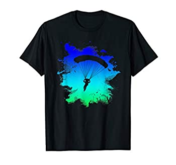 Skydiving T-Shirt With Cool Splash Art