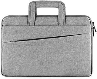 Men's Nylon Laptop Bag Waterproof Notebook Shoulder Messenger Bag Light Business Briefcase Travel and Luggage Bag Casual Vintage Style (Color : Black) Elise (Color : Gray)