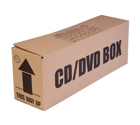 Pack of 5 Cardboard Boxes for CDs & DVDs, ideal for storage & removal: Amazon.co.uk: Kitchen & Home