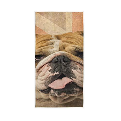 XiangHeFu Gimnasio Multiusos Toalla de baño Ultra Suave Un Bulldog inglés Jadeo...