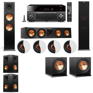 Big Save! Dolby Atmos 5.2.4 Klipsch RP-280F Tower Speakers R112SW with Yamaha RX-A3060