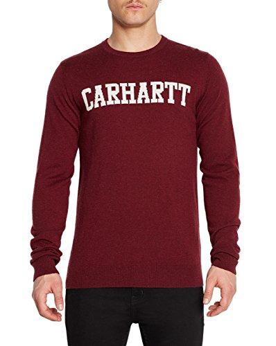 Herren Strickjacke Carhartt College Pullover, chianti/snow , Gr. L