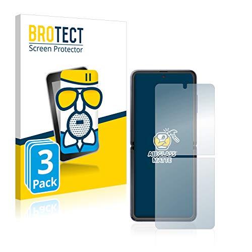 BROTECT Entspiegelungs-Panzerglasfolie kompatibel mit Samsung Galaxy Z Flip (3 Stück) - Anti-Reflex Panzerglas Schutz-Folie Matt