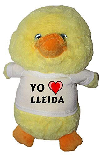 Shopzeus Pato de Peluche (Juguete) con Amo Lleida en la