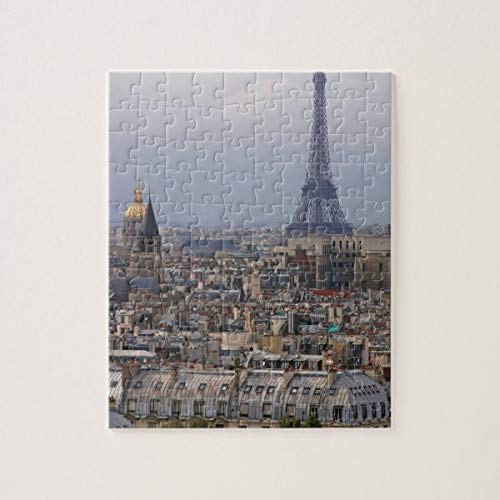 CICIDI France, Paris, Cityscape with Eiffel Tower Jigsaw Puzzle 1000 Pieces for Adult Entertainment DIY Toys , Graet Gift Home Decor