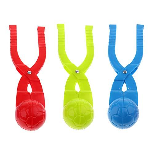SM SunniMix 3 Stück Plastik Schneeballzange / Schneeball Hersteller / Snowball Maker Kinder Winter Schnee Spielzeug - Fußball, M