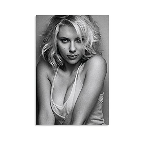 HAPPOW Scarlett Johansson väggkonst bildtryck modern familj sovrum dekor affischer 40 x 60 cm (16 x 24 tum)