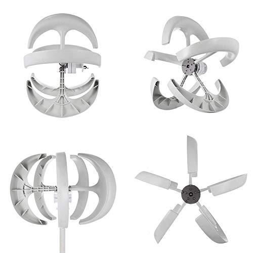 Buoqua windgenerator 400 watt Wind Generator 12v Wind Turbine Generator 5 Blätter Weiße Laterne Vertikal Windgenerator mit Controller