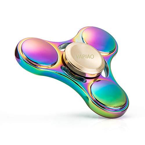 VAPIAO Fidget Spinner Hand Spielzeug Special Hochleistungs Kugellager Anti Stress Kreisel I Regenbogen Farben
