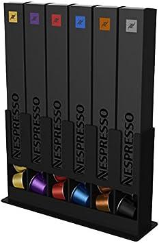 tavolaswiss Dispensador de cápsulas de Nespresso, Negro, 25x15x7cm