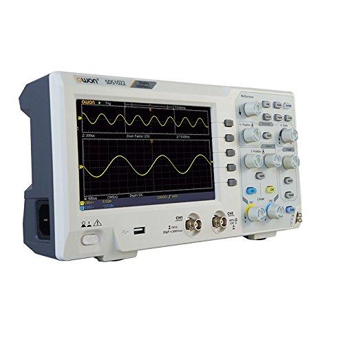 OWON SDS1102 Digital Desktop Oscilloscope 100 MHz bandwidth 1 GSa/s sample rate 10K pts wavelength