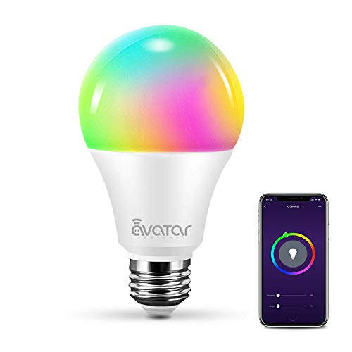 Smart WiFi Light Bulb, LED Light Bulbs A19 RGB Color Changing Lights, Alexa/Google Home, Smart Life APP Remote Control ON/Off/Color/Timer/Group/Share Switch-E26, 7W