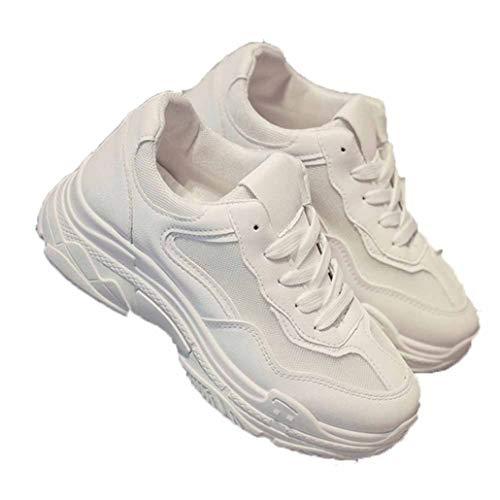 Dames Dikke Sneakers Mode Dikke Onderkant Casual Vulcaniseer Schoenen Ademend Lente Veters Platform Wedges Hardlopen Wandelschoenen