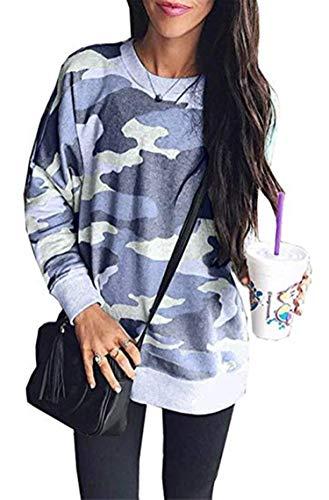 Little Hand Camouflage Pullover Damen Loose Locker Sweatshirt Kapuzenpullover