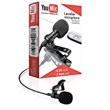 Youmic - Mini Lavalier Lapel Mic with Clip for Phone/iPhone/iOS/Android/PC/Laptop/Video/Vlogging