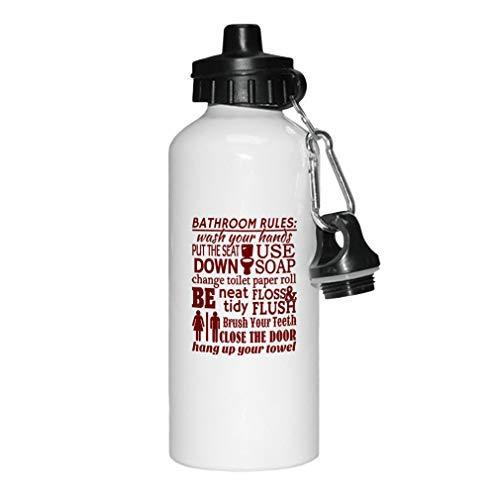aqf527907 Maroon Badkamer Regels Wassen U Handen Zet Stoel Down Gebruik Zeep Nieuwigheid Wit Sport Waterfles Aluminium, School Waterfles, Verjaardag, voor Mannen, voor Vrouwen