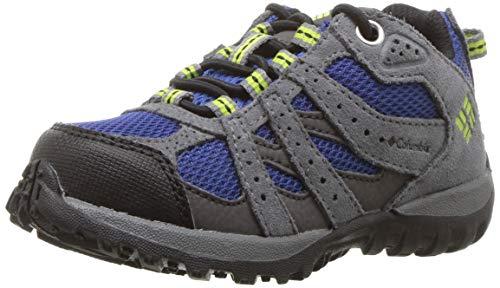 Columbia Garçon Chaussures de Randonnée, Imperméable, CHILDRENS REDMOND WATERPROOF, Taille 25, Bleu (Azul, Bright Green)