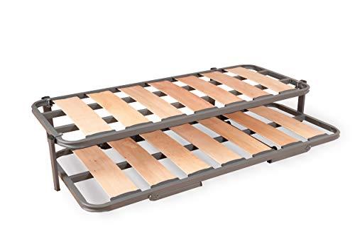 Duermete Cama Nido Completa Láminas Anchas Reforzada, Sistema Anti-Ruido, Gris, 90 x 190