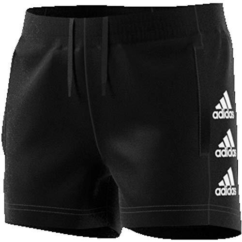 adidas Jg Mh Short Pantalón Corto, Niñas, Negro/Blanco, 152 (11/12 años)