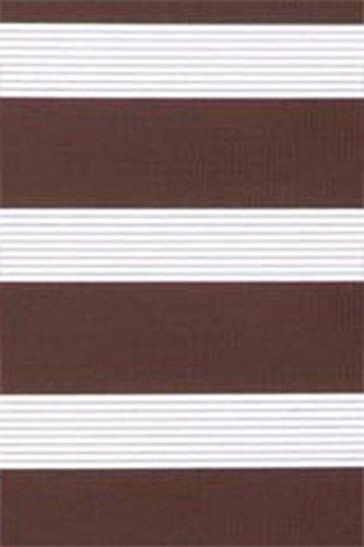 IXX-Design Duo-Rollo/Doppelrollo/Zebrarollo, mit Aluminiumblende, extra breite Größen, 180 cm, 200 cm, 220 cm, 240 cm, weiß, grau, Mocca (220 cm breit, Mocca)