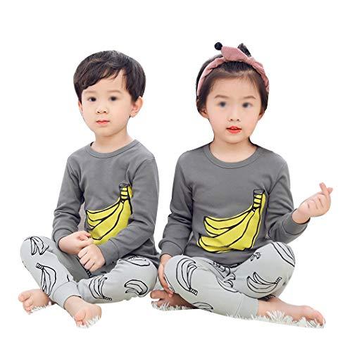 AXIANQI De pyjama-katoenen dunneness-früel- en herfstkarikatuuruitgang-ondergoed set van de kinderen A