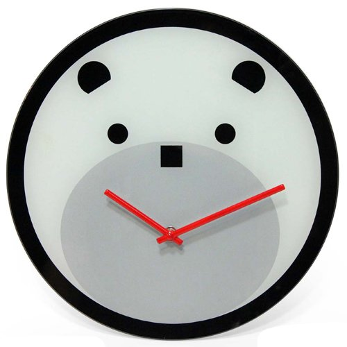 Infinity Instruments 14143 Bearly Time 12-Inch Glass Wall Clock