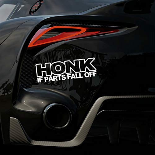 YSHtanj Auto Sticker Externe Decoratie Sticker HONK Als Onderdelen Fall Off Sticker Grappige JDM Drift Verlaagde Oude Rat staaf Auto Raam - Wit