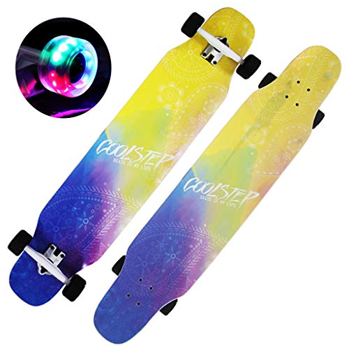 HYE-SHOE Professionelle Allround Longboards Skateboard Komplettes Cruising 46 Zoll für Erwachsene Boy Girl Brush Street Dance Board Anfänger