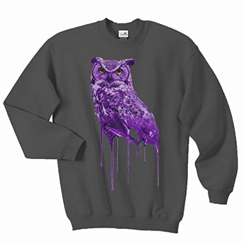 Ovoxo Sweatshirt Jumper Eule Drake Lil Wayne YMCMB Swaetshirt Fresh Dope Herren Damen Gr. L / 104,14-109,22 cm, anthrazit