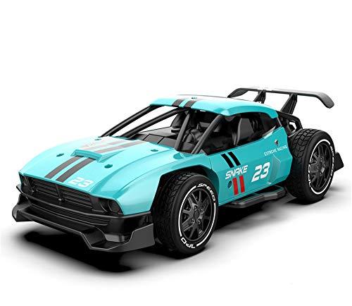 Kun-ting Carro de Control Remoto, Coche teledirigido de 2.4GHz, Carcasa metálica, relación de simulación 1:24, Coche teledirigido para niños / Adultos, Modelo: SL-216A (Azul)