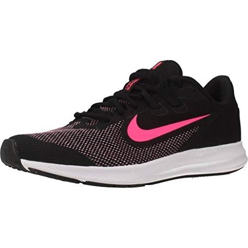 Nike Downshifter 9 (GS), Scarpe da Atletica Leggera Unisex-Bambini, Nero (Black/Hyper Pink/White 000), 38.5 EU