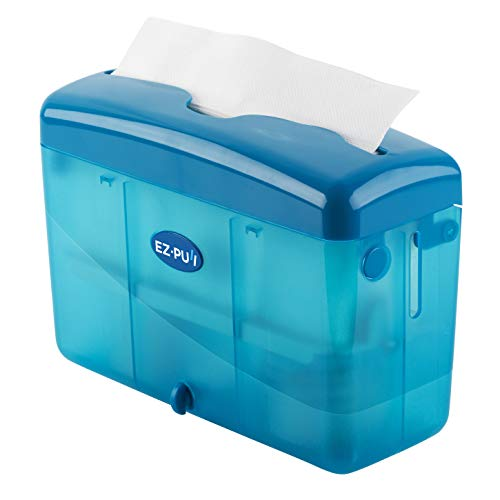 """EZ-PUll 4600BL Countertop Slimfold Paper Dispenser (ONLY for P2F5 Towel), 9"""" x 3.5"""" x 6"""", Blue"""