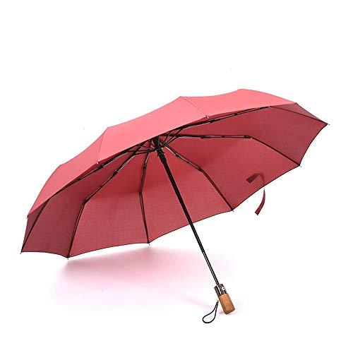 yaohuishanghang sombrilla Paraguas Plegable de Viaje Toldo Reforzado a Prueba de Viento 10 Costillas de Fibra de Vidrio Automático Abrir Cerrar Paraguas (Color : Navy, Size : One Size)