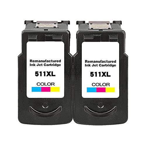 RICR 510 511 Cartuchos De Tinta para PG510 CL511 Reemplazo, Compatible para Canon MP240 MP250 MP260 MP270 MP480 MP492 MX320 MX330 Impresora 2C