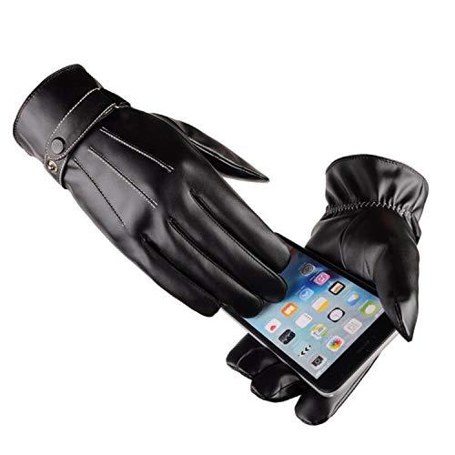 Small-shop Winter Gloves PU-Winterhandschuhe für Damen und Herren, mit Berührung versehene Fäustlinge für Paare, zum Fäusteln, Damen, S078 Black, Einheitsgröße
