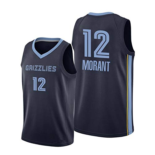 Grizzlies 12# Morant NBA Camiseta Baloncesto Swingman Top