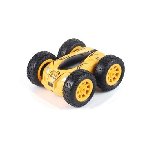 Lihgfw Stunt Roll doppelseitig rotierender Fernbedienung Auto Kleinwagen Hochleistungs-Hochgeschwindigkeits-Fernbedienung Auto Kinderspielzeug Fernbedienung Rollover Auto gelb (Color : Yellow)