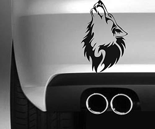 South Coast Stickers Wolf Howl STICKER FUNNY BUMPER STICKER CAR VAN 4X4 WINDOW PAINTWORK DECAL EURO LAPTOP DRIVE