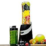 Geepas Personal Blender Smoothie Milkshake Maker - Mini Travel Blender for Protein Shakes with 2 Easy to Clean BPA Free Tritan Sports Bottles with Leak-Proof Lids (350W)