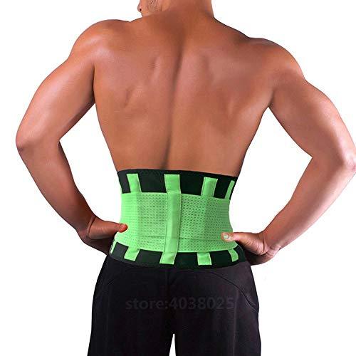 LLZGPZBD neopreen sport taille zwart riem lichaamshouding corrector verband corset brace wervelkolom rug lendensteun riem voor mannen vrouwen