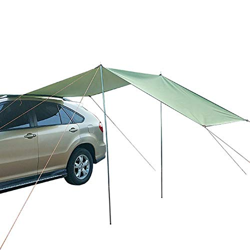 Eillybird Auto Markise, tragbare wasserdichte Camping Zelt Auto Dach Regen Baldachin Zelt Plane für Schnee Sonnenschirm Camping Outdoor Reisen