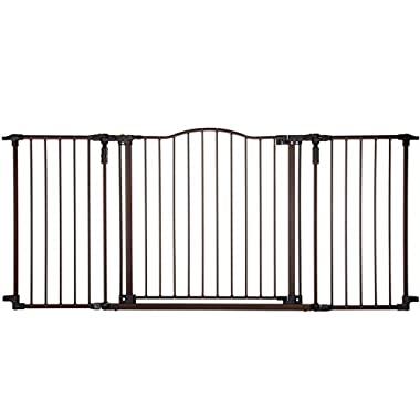 Supergate Deluxe Décor Gate, Bronze, Fits Spaces between 38.3  to 72  Wide and 30 high