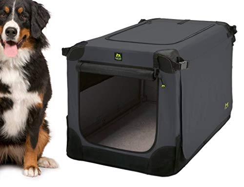 Maelson Soft Kennel faltbare Hundebox -anthrazit - XXL 120 - (120 x 77 x 86 cm)