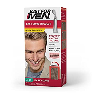 Just For Men Easy Comb-In Color (Formerly Autostop), Gray Hair Coloring for Men with Comb Applicator