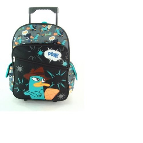 16 Phineas and Ferb Arms Crossed Rolling Backpack-tote-bag-school