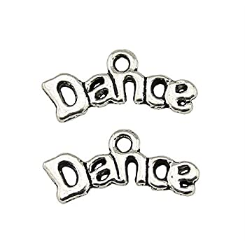 NEWME 100pcs Dance Charms Pendant for DIY Jewelry Wholesale Crafting Bracelet and Necklace Making