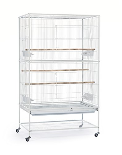 Prevue Pet Products Wrought Iron Flight Cage with Stand, Chalk White