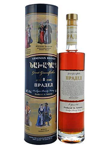 Armenischer Brandy Urgroßvater in Zylinder Geschenkverpackung, 8 Jahre gereift, 0,5l